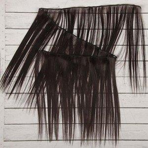 Волосы - тресс для кукол «Прямые» длина волос: 25 см, ширина: 100 см, цвет № 2