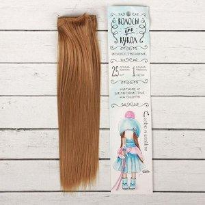 Волосы - тресс для кукол «Прямые» длина волос: 25 см, ширина: 100 см, цвет № 28