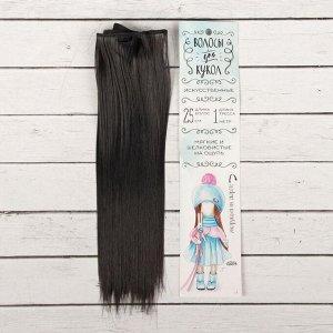 Волосы - тресс для кукол «Прямые» длина волос: 25 см, ширина: 100 см, цвет № 2В