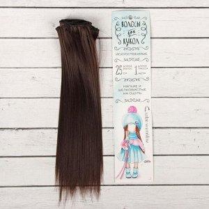 Волосы - тресс для кукол «Прямые» длина волос: 25 см, ширина: 100 см, цвет № 4