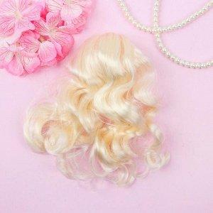 Голова для изготовления куклы, волосы «Завитки» блондинка