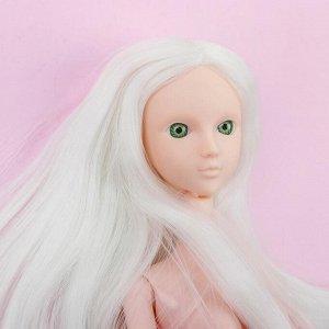 Голова для изготовления куклы, волосы «Прямые» блондинка, цвет глаз: зелёный