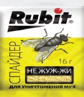 Приманка от мух Рубит Спайдер 16гр Не жуж-жи 1/150
