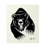 """Татуировка на тело """"Чёрный медведь"""""""