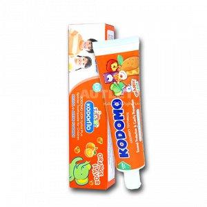LION KODOMO Детская зубная паста со вкусом апельсина, 40гр
