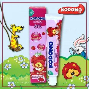 LION KODOMO Детская зубная паста, гелевая, со вкусом клубники, 40гр