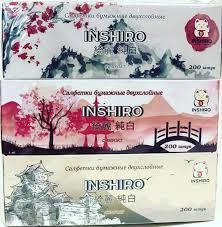 "Салфетки в коробке  ""INSHIRO"" SilkFlower  2-х. сл. (200 шт.)"