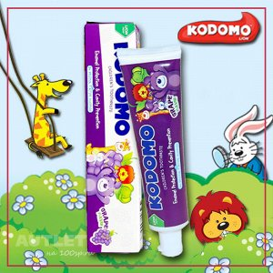 LION KODOMO Детская зубная паста со вкусом винограда 40 гр
