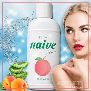 """""""Naive"""" Мыло жидкое для тела с экстрактом листьев персикового дерева"""