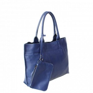 Стильная женская сумочка Astrol_Flonge из натуральной кожи цвета темного индиго.