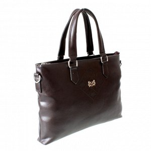 Мужская сумка Estole из эко-кожи шоколадного цвета.