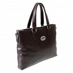 Мужская сумка Gers из эко-кожи шоколадного цвета.