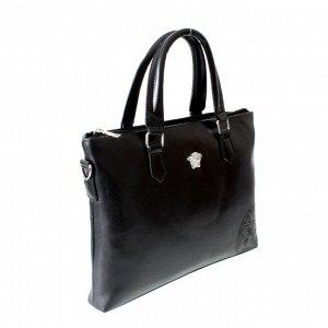 Мужская сумка Linge из эко-кожи черного цвета.