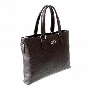 Мужская сумка Lost из эко-кожи шоколадного цвета.