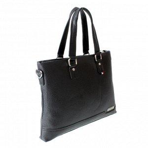 Мужская сумка Solves из эко-кожи черного цвета.