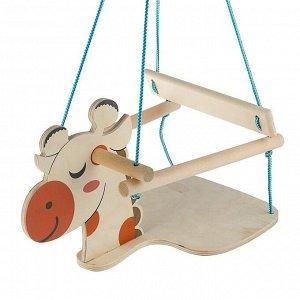 """Качели детские подвесные """"Жираф"""", деревянные, сиденье 30?30см"""