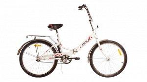 Велосипед Гамма 24 складной ЭКОНОМ (бело/синий, бело/красн.)