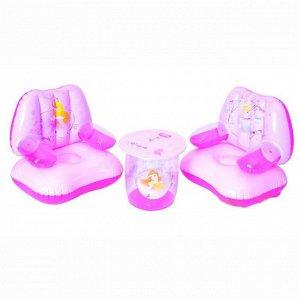 Набор надувной мебели (2 кресла+столик)  DISNEY 91055В (56см х46 х 58см)  (1/8)