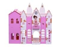 """Домик для кукол """"Замок Джульетты"""" бело-розовый (с мебелью) KRASATOYS 000261"""