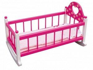 Деревянные игрушки: Кровать для куклы ТХ921 83701 (1/6) (разм.53*29*37,5)