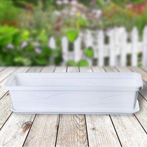 Ящик балконный 60 см, цвет белый