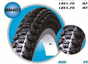 Шина пневматическая резиновая для велосипеда 12х2,125 BH403 (1/50)