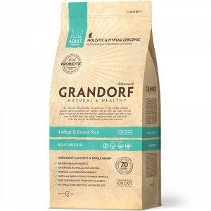 Grandorf Probiotic д/кош Indoor д/домашних 4вида мяса/Рис 2кг (1/12)