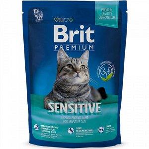 Brit Premium Cat Sensitive д/кош Гипоаллергенный Ягненок 300гр (1/10)