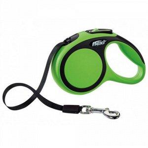 Поводок для собаки Flexi Рулетка Comfort L 8м до 50кг Зеленая (лента)