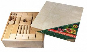 Конструктор деревянный 150 дет. не окрашенный