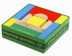 Конструктор деревянный 20 дет. цветной
