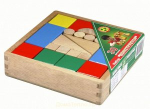 Конструктор деревянный 30 дет. цветной
