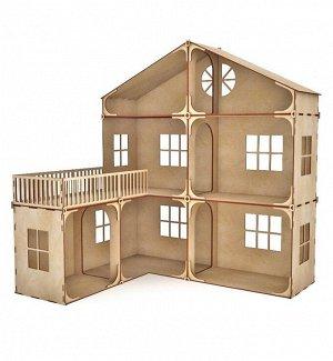 Модульный кукольный домик с балконом