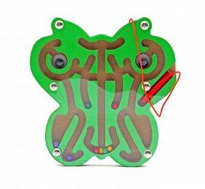Лабиринт магнитный Бабочка зеленая