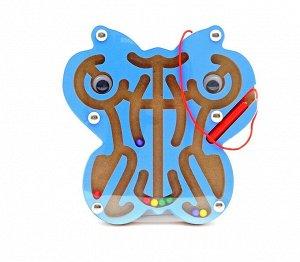Лабиринт магнитный Бабочка синия