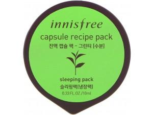 Маска для лица с экстрактом зеленого чая (увлажнение) INNISFREE CAPSULE RESIPE PACK GREEN TEA