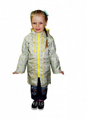 Плащ Плащ для девочки, длина выше колена(Ткань верха плащевая FITSYSTEM, в качестве подкладки по спинке и грудке до талии fleece 180, остальное подкладочная такнь,накладные карманы, по л/талии кулиска