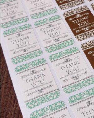 """Стикеры бумажные-""""THANK YOU"""""""