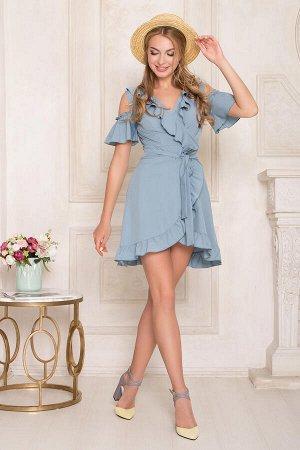 """Платье """"AZ-135"""" (т/голубой)"""