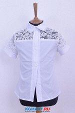 Бенгалиновая блузка на пуговицах c вырезом