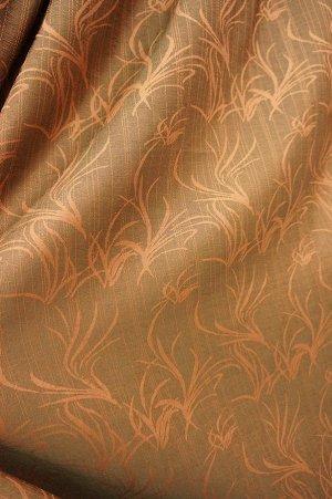 полотно Цена за 1шт  ( в стоимость входит: ткань, шт.лента, раскрой+ инд.пошив) Полотно шир 2.0 х инд. выс в подарок ---пишем высоту шторы в примечании;    --полотно жаккард листья,100% п/э; Турция; ш