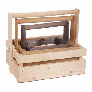 Набор деревянных ящиков 3 в 1 с шильдиком и ручкой «Только для тебя» 30 ? 21 ? 26 см
