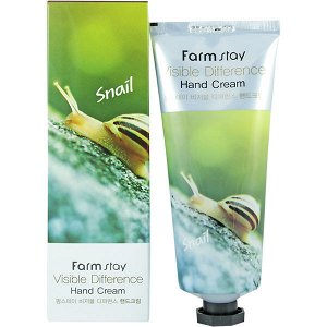 Крем для рук FARMSTAY VISIBLE DIFFERENCE HAND CREAM SNAIL