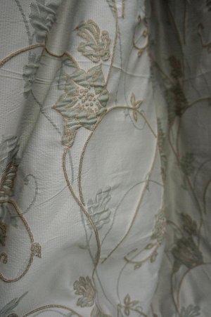полотна Цена за 1шт ( в стоимость входит: ткань, шт.лента, раскрой+ инд.пошив)  Полотно шир 2.0 х инд. выс в подарок ---пишем высоту шторы в примечании;   --- растительный риунок;  100% п/э; Турция, ш