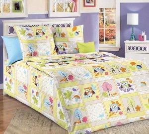 """Пододеяльник 1,5-спальный, бязь """"Люкс"""", детские расцветки (Дорис, зеленый)"""