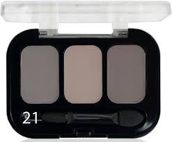 Parisa Тени ( Трехцветные ) Е-403 № 21 Матовый натуральный коричневый