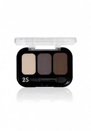 Parisa Тени ( Трехцветные ) Е-403 № 25 Матовый бежевый-коричневый