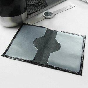 Обложка для паспорта, шик, цвет чёрный