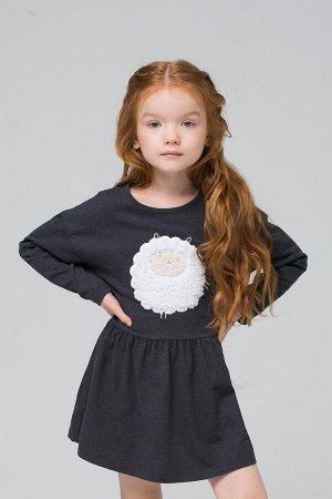 5473 Платье для девочки/темно-серый