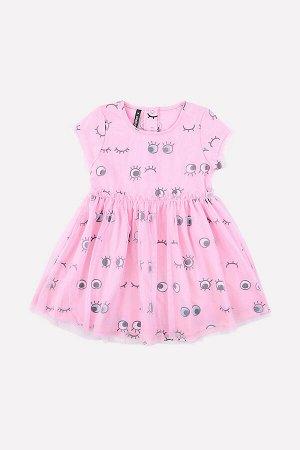 5501 Платье/глазки на розовом облаке к201